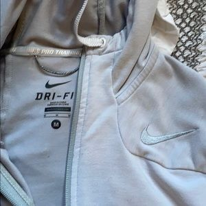 Nike dri-fit pro training zip up